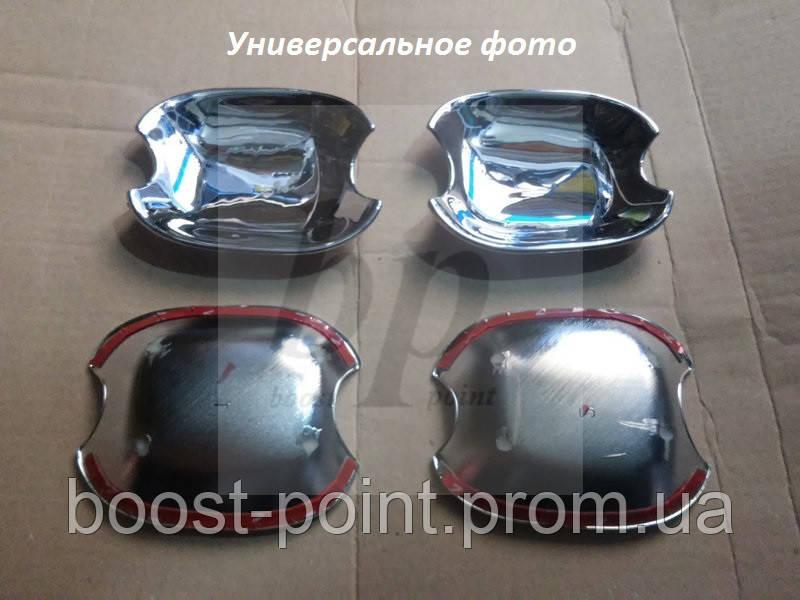 Хром накладки под дверные ручки (мыльницы) Toyota rav 4 II (тойота рав 4) 2000-2005
