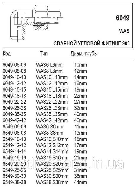 Сварной угловой фитинг 90°, 6049