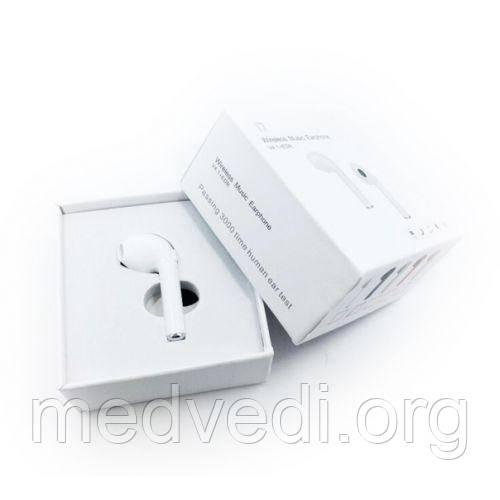 Блютуз гарнитура I7 белая, беспроводной наушник, мини