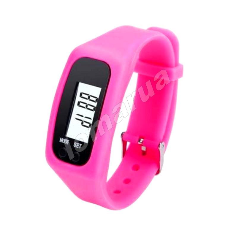 Фитнес браслет часы шагомер счетчик калорий Pink