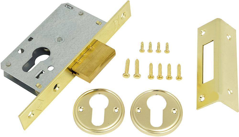 Механизм дверей врезной KALE 157 бексет: 35mm Латунь