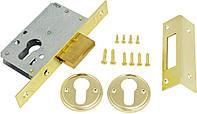 Механизм дверей врезной KALE 157 бексет: 35mm Латунь, фото 1