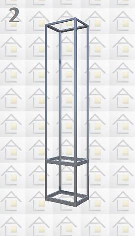 Конструктор (каркас) витрины № 2 из алюминиевого профиля (2578)1449,2576,2721, фото 2