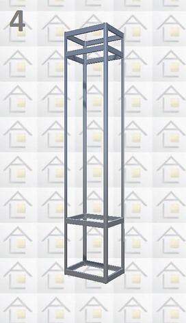 Конструктор (каркас) витрины № 4 из алюминиевого профиля (2578)1449,2576,2721, фото 2