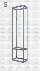 Конструктор (каркас) витрины № 5 из алюминиевого профиля (2578)1449,2576,2721