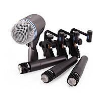 Аренда звука,прокат Комплекта микрофонов для озвучки барабанной установки Shure DMK5752