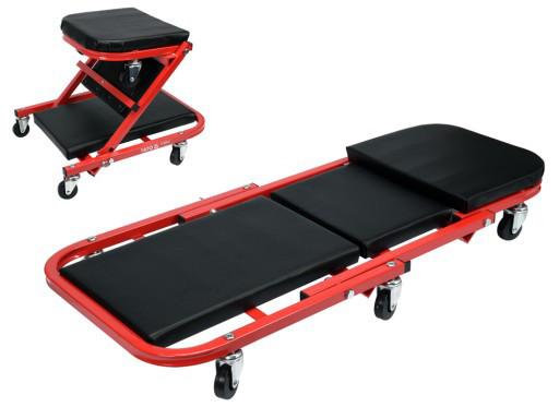 Лежак автослесарный подкатной 2 в 1 Yato YT-08802