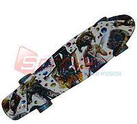 Скейт Penny пластиковый led. S2046-17.