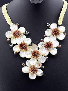 Ожерелье из натурального перламутра 50 см. 021560