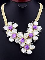 Ожерелье из перламутра в форме цветов 50 см. 021567