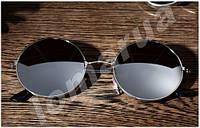 Женские солнцезащитные очки круглые Silver (Уценка)