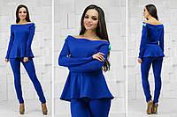 Стильный элегантный женский костюм, ткань кукуруза. Разные цвета и размеры., фото 1