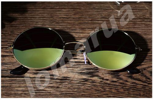 Женские солнцезащитные очки круглые хамелеон Golden Green
