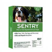 Капли от блох, клещей и комаров для собак весом более 30 кг Sentry СЕНТРИ КАПЛИ / 3 пипетки