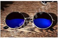 Женские солнцезащитные очки круглые Blue (Уценка)
