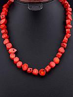 Бусы из коралла - женские украшения из камней 48 см. 046143