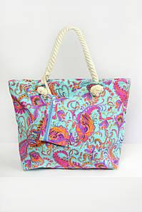 Пляжная сумка Флоренция бирюзовая