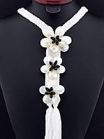Ожерелье с перламутровыми цветами 70 см. 019569