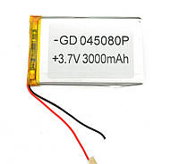 Литий-полимерный аккумулятор 3.7V 80х50х4 3000 mAh