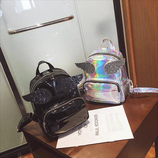 голограммный рюкзак с крыльями