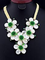 Ожерелье с цветами из перламутра 50 см. 021563