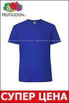 Мужская футболка плотная мягкая Ярко-синяя Fruit of the loom 61-422-51 S, фото 3