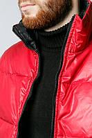 Жилетка мужская яркая 465K021-2 (Красно-черный)