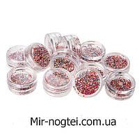 Набор объемных цветных паеток для дизайна ногтей, 12 шт, фото 1