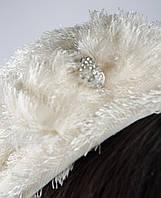 Шапка женская берет 818K001-6 (Молочный)