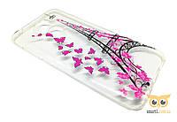 Силіконовий чохол з метеликами Paris для Honor 6A
