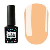 Гель-лак Kira Nails №006 (розово-персиковый для френча, эмаль), 6 мл