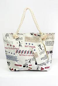 Пляжная сумка Милан молочная