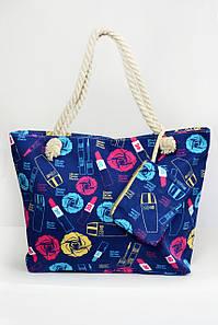 Пляжная сумка Милан синяя