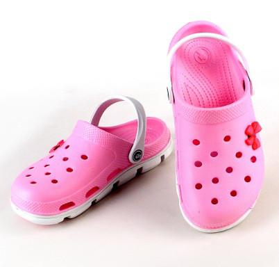 Женские кроксы (Код: 116102 бел-розовый )