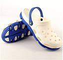 Женские кроксы (Код: 116101 бел-синий ), фото 2