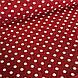 Хлопковая ткань польская белый горох на красном 10 мм (1 см) №140, фото 3