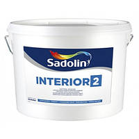 Краска глубокоматовая латексная  для внутренних работ INTERIOR-2 Sadolin (Интериор - 2 Садолин) 10л.