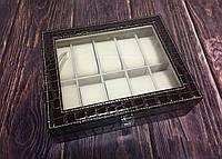 """Шкатулка для часов """"Алана"""" на 10 отделений коричневая, фото 1"""
