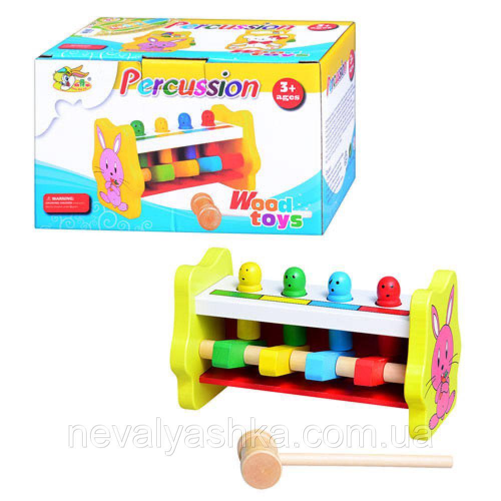 Деревянная игрушка Стучалка Колотушка, MD 0326, 003683