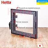 Дверца для печи со стеклом Hetta Neo  390/490мм, фото 3