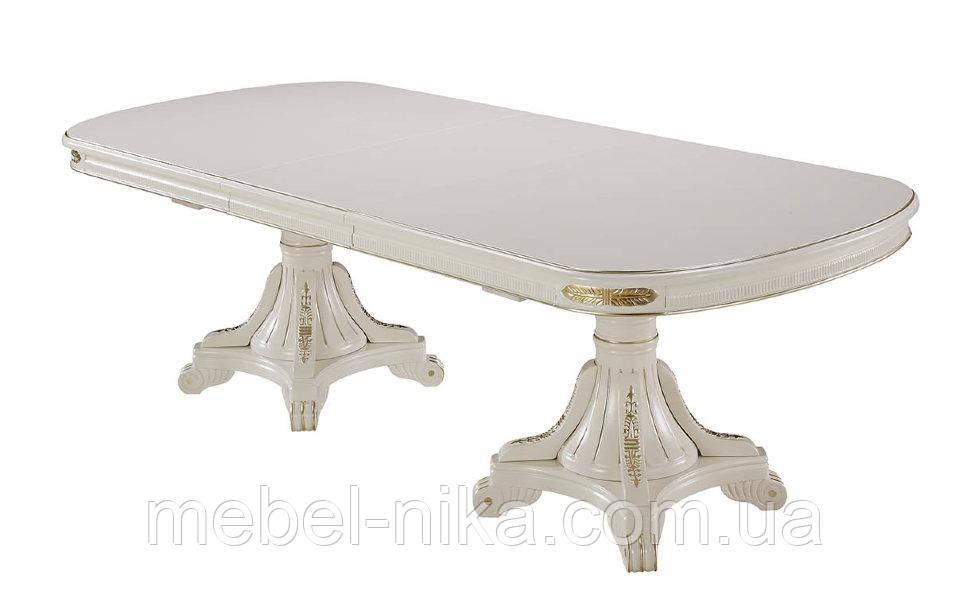 Стол обеденный Р22 (2000-2500-3000х1100х760) белый