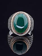 029401 Перстень с хризопразом 21 размер (серебро/золото)