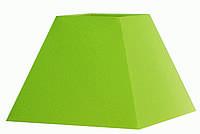 Абажур Corep  Пирамида квадрат L 17 см зелёный