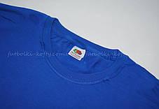 Мужская футболка плотная мягкая Ярко-синяя Fruit of the loom 61-422-51 M, фото 2