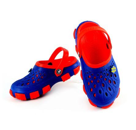 Детские кроксы ( Код: 116122 JA син-красный )