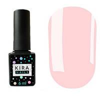Гель-лак Kira Nails №017 (розовый, эмаль), 6 мл