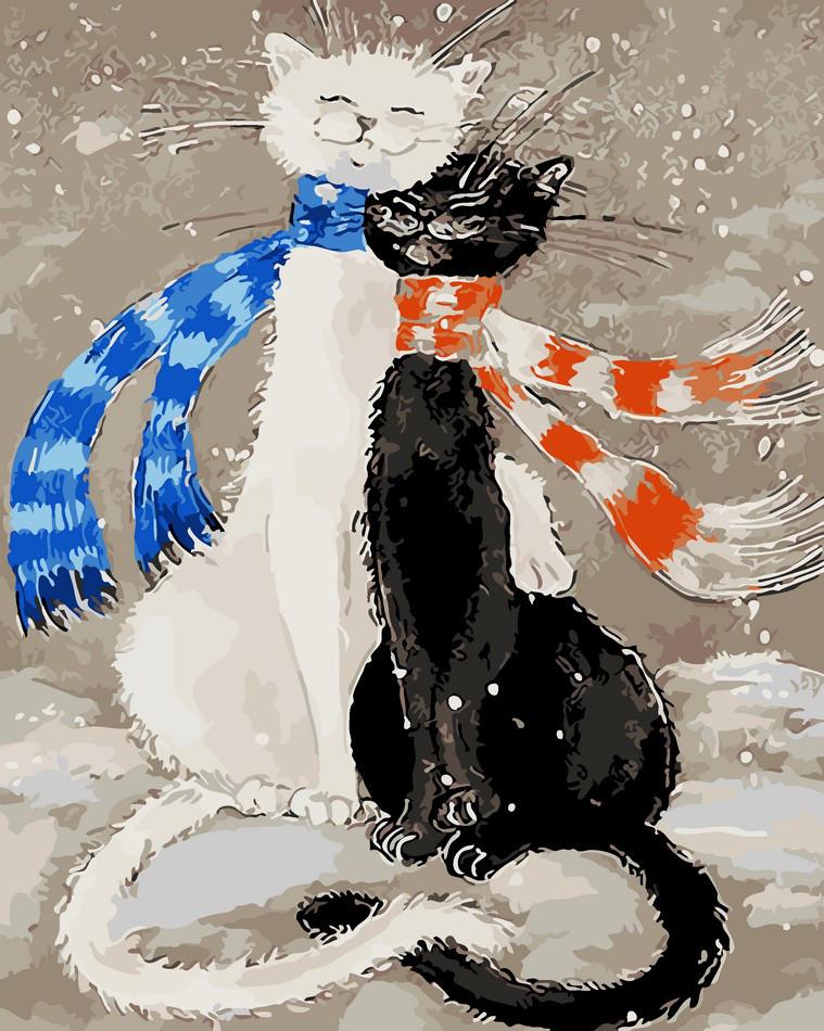 Набор для раскрашивания по номерам Зимняя идиллия ArtStory AS0067 40 х 50 см