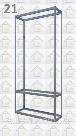 Конструктор (каркас) витрины № 21 из алюминиевого профиля (2578)1449,2576,2721, фото 2