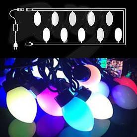 Гирлянда светодиодная Сливы, 20 LED(Фигур_Слива-20LED)