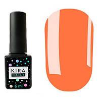 Гель-лак Kira Nails №019 (морковный, неоновый), 6 мл